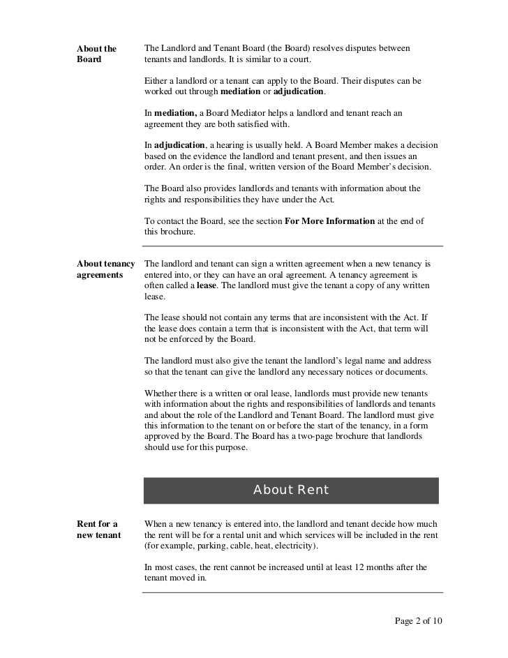 rent review board ontario for tenants