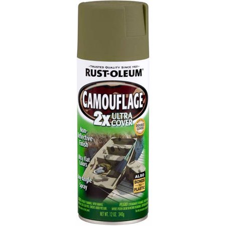 rust oleum camouflage spray paint review