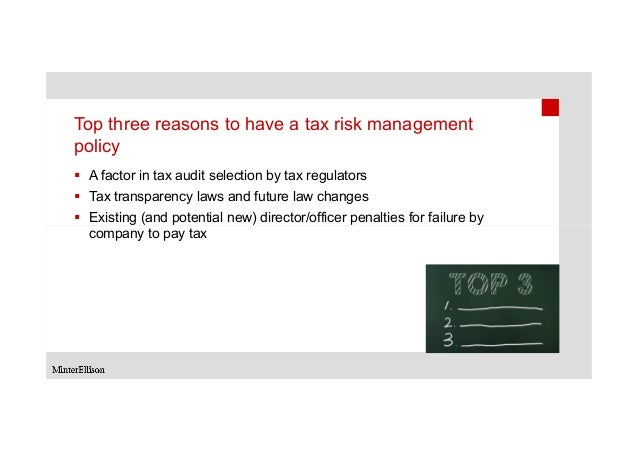 tax risk management and governance review guide