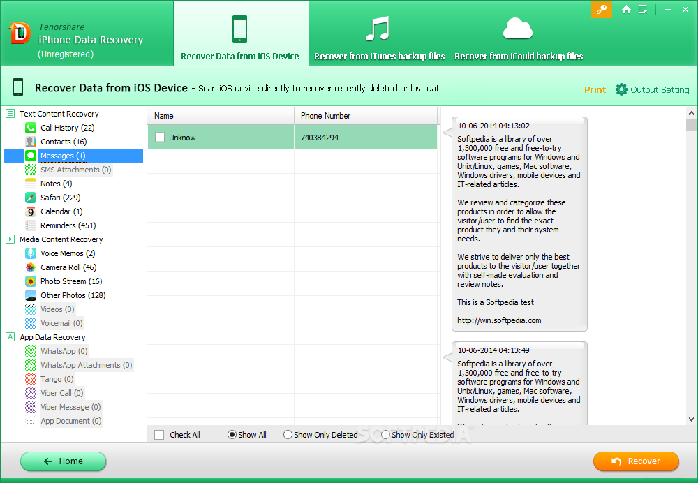 tenorshare iphone data recovery review