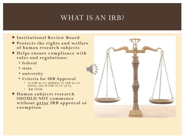 what is an institutional review board