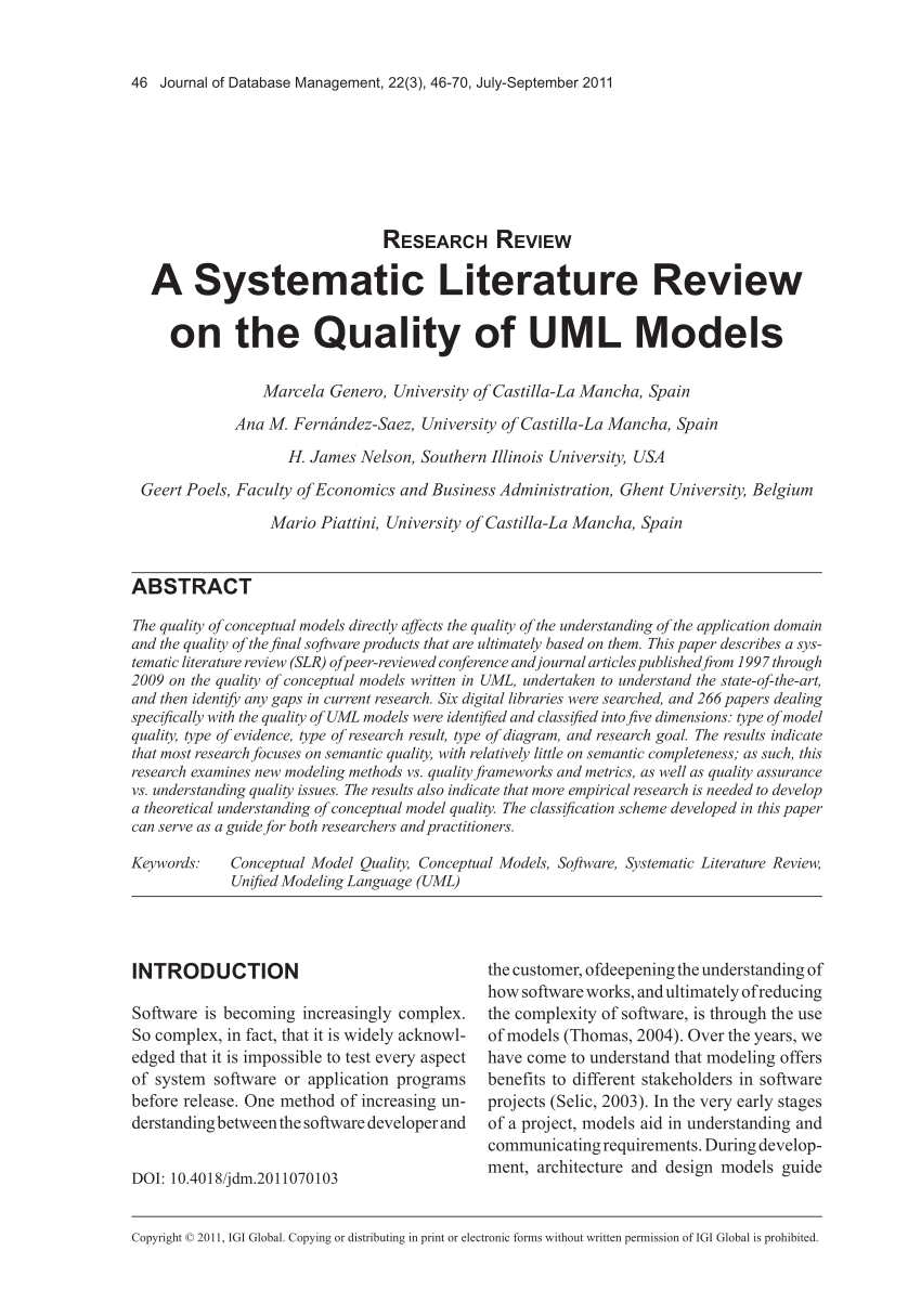 systematic literature review example paper