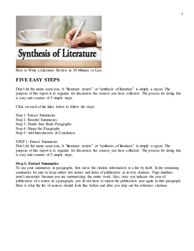 how to write a literature review introduction
