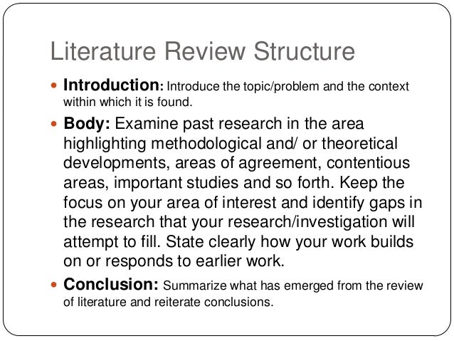 writing a literature review paper